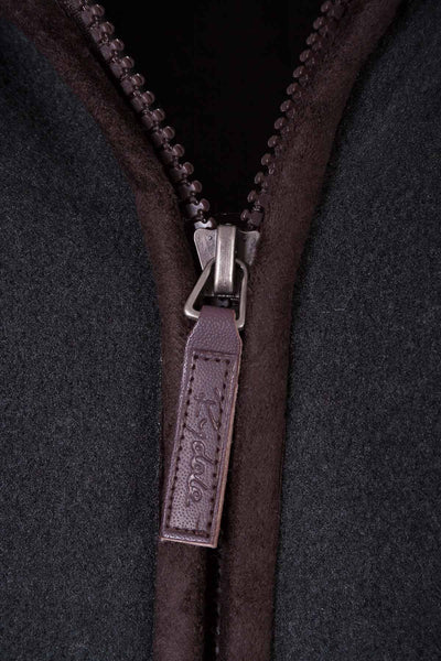 Gunmetal - Garton Fleece Gilet with Pheasant Motif