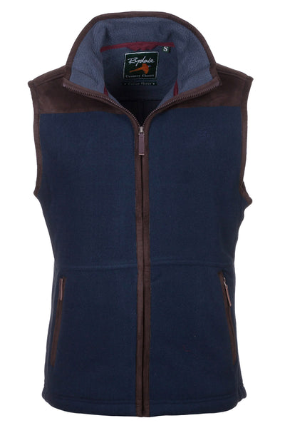 Navy - Garton Bonded Fleece Gilet
