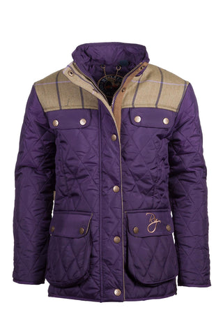 Dark Purple - Rydale Soft Quilted Biker Babe Jacket