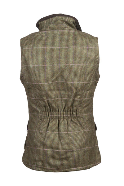 Small Check - Rydale Juniors Girls Tweed Waistcoat Bodywarmer