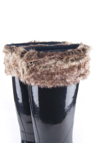 Grey/Navy - Rydale Ladies Fur Boot Liners