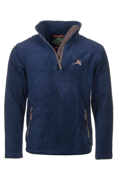 Navy Pheasant - Egton Half Zip Fleece