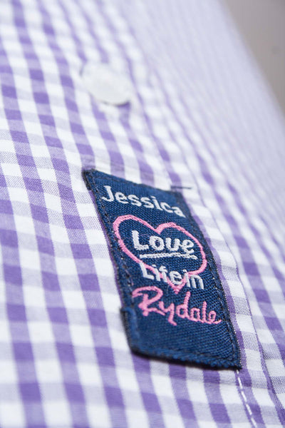 Jessica - Ladies Purple Gingham Check Shirt