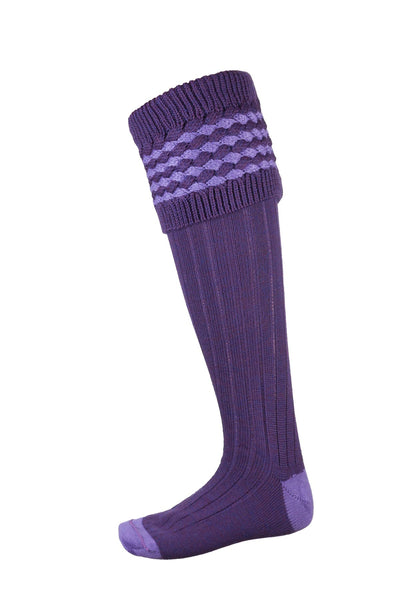 Purple/Lilac - Ladies Diamond Knit Socks