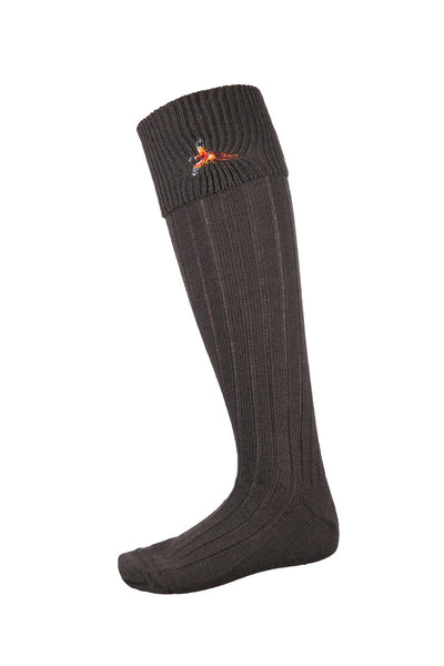 Olive Pheasant - Ladies Motif Socks
