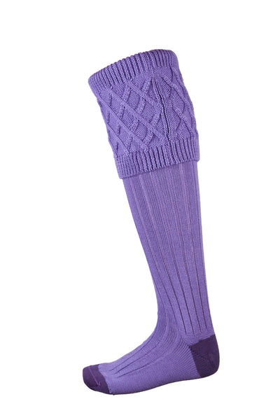 Lilac/Purple - Ladies Rannoch Knit Socks