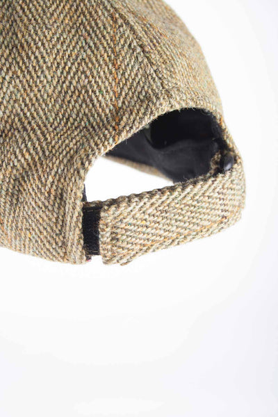 Light Check - Mens Country Tweed Baseball Cap with Leather Peak