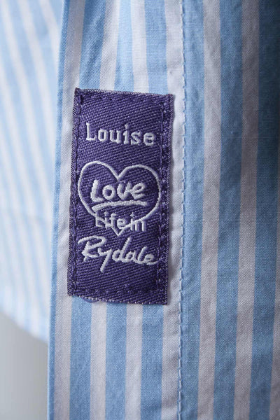 Louise - Ladies Purple Stripe Shirt