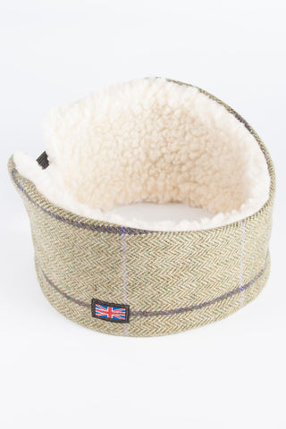Sherpa Lined Tweed Headband