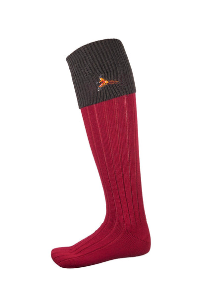 Olive/Red Pheasant - Mens Motif Socks