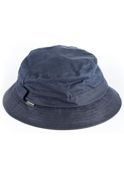 Navy - Mens Waxed Cotton Bush Hat