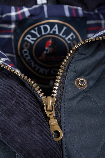 Navy - Rydale Diamond Quilted Waxed Jacket