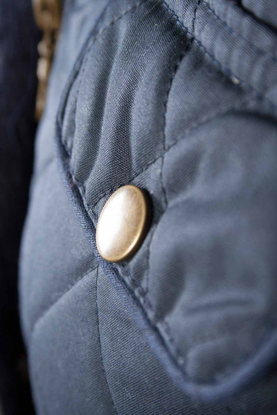 Navy - Rydale Womens 100% Waxed Cotton Country Jacket