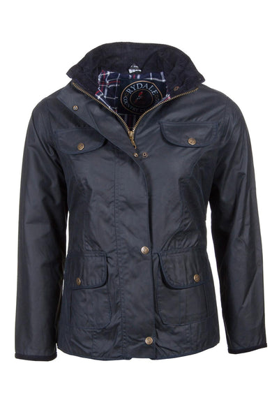 Navy - Rydale Ladies Gayle Wax Cotton Jacket