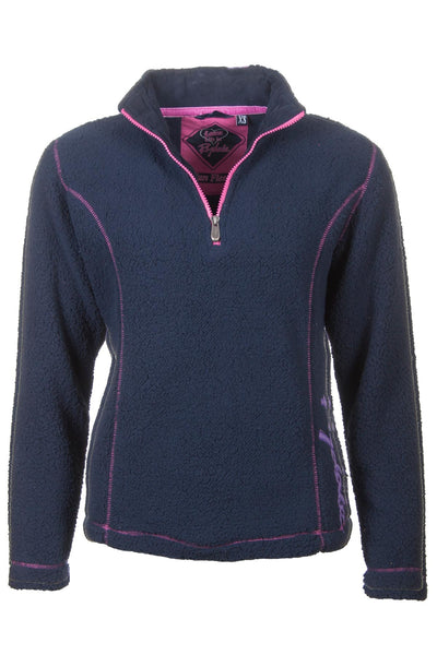 Navy - Rydale Ladies Half Zip Fun Fleece