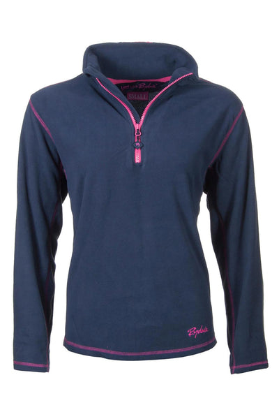 Navy - Rydale Ladies Gaton Half Zip Micro-Fleece