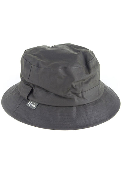 Olive - Mens Waxed Cotton Bush Hat