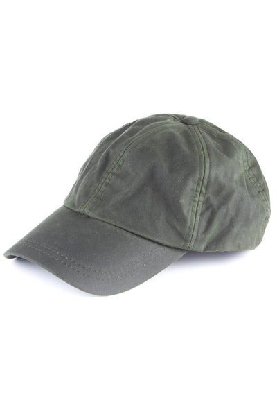 Olive - Mens 100% Waxed Cotton Country Baseball Cap