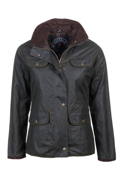 Olive - Rydale Ladies Gayle Wax Cotton Jacket
