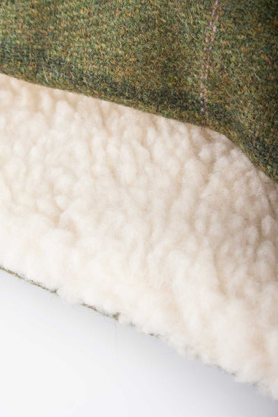 Olive / Pink - Sherpa Linda Tweed Headband