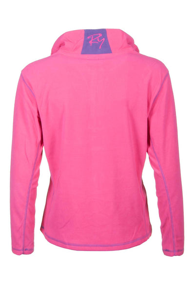 Pink - Rydale Ladies Gaton Half Zip Micro-Fleece