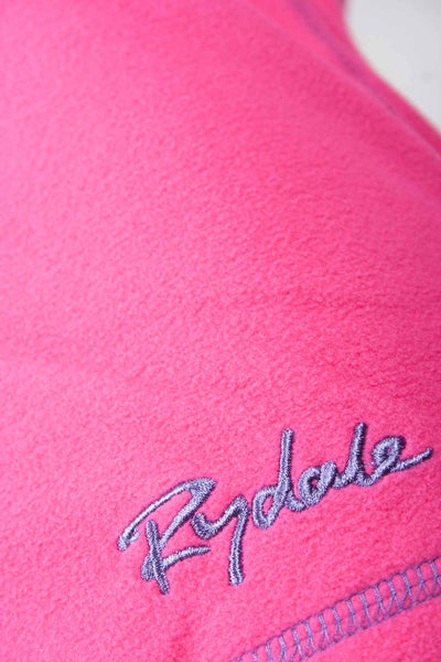 Pink - Ladies Half Zip Micro Fleece