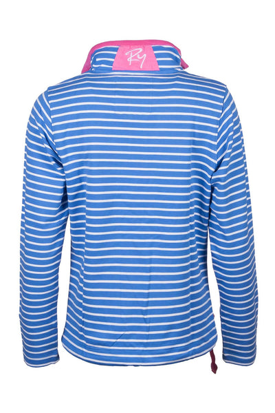Denim Blue - Pinstripe Sweatshirt
