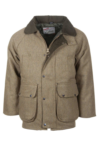Plain - Mens Derby Tweed Padded Shooting Jacket