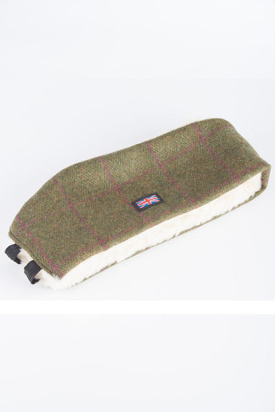 Plum Check - Sherpa Linda Tweed Headband