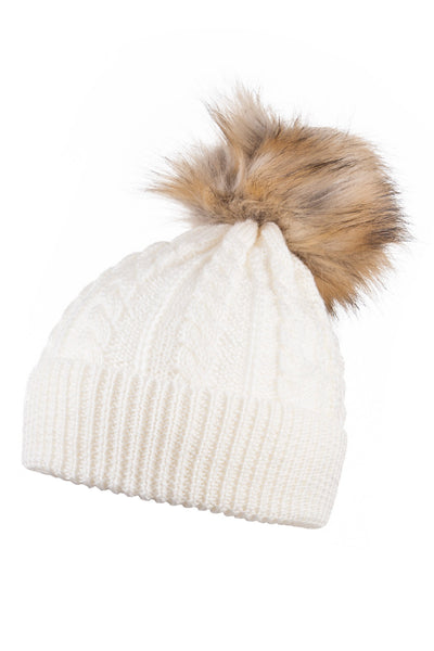 903732e907f Rydale Ladies Pom Pom Knitted Hat With Faux Fur Bobble