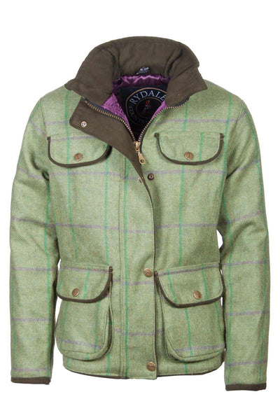 Purple / Green - Girls Tweed Jacket