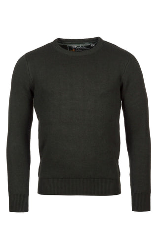 Chunky Crew Neck Shooting Sweater