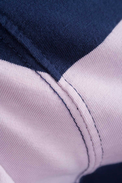 Navy/Pink - No8 Hooped Rugby Shirt