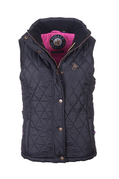 Black - Soft Quilted Biker Babe Gilet