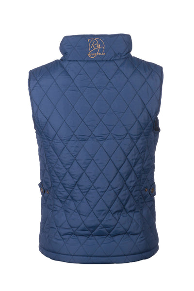 Navy - Soft Quilted Biker Babe Gilet