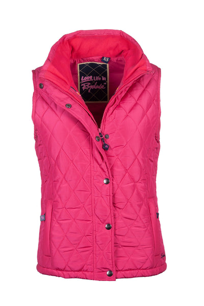 Strawberry - Soft Quilted Biker Babe Gilet