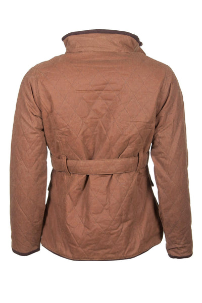 Tan - Ladies Belt DQ Wax Cotton Jacket