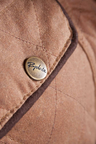 Tan - Ladies Belted Diamond Quilted Waxed Cotton Showerproof Jacket