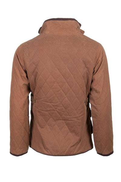 Tan - Rydale Ladies Diamond Quilted Wax Cotton Jacket