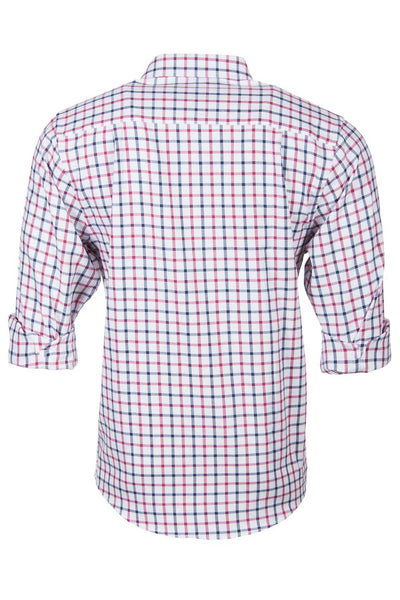 Hovingham White - Rydale Mens Hovingham Country Check Shirt