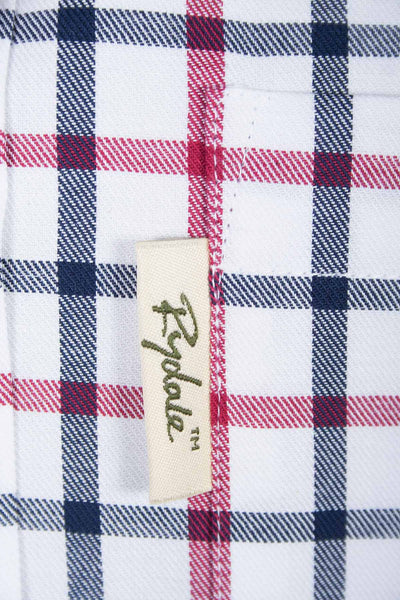 Hovingham White - Mens Beige Tattersall Country Checked Shirt