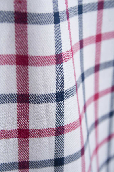 Hovingham White -  Rydale Long Sleeved Check shirt
