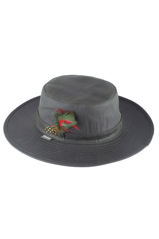 Wide Brimmed Wax Cotton Hat