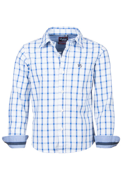 Alfie Check - Junior Oxford Cotton Shirt