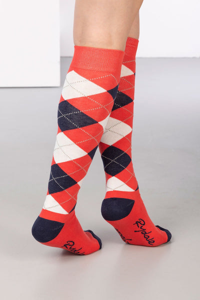 Cherry - Argyle Knee Length Socks