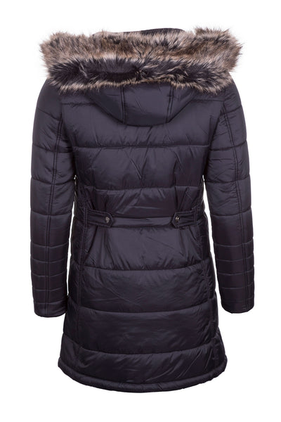 Black - Ladies Arram Long Fur Coat