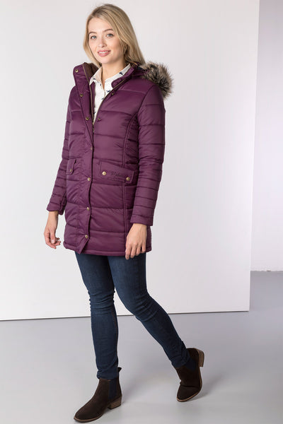 Berry - Ladies Arram Long Fur Coat