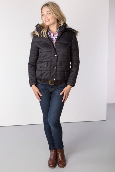 Black - Ladies Arram Short Tweed Jacket