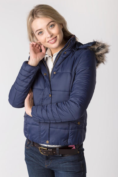Navy - Ladies Arram Short Tweed Jacket