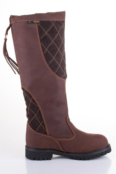 Quilted Biker Babe Leather Boots